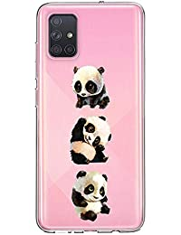 Oihxse Cristal Compatible con Samsung Galaxy J5 Funda Ultra-Delgado Silicona TPU Suave Protector Estuche Creativa Patrón Panda Protector Anti-Choque Carcasa Cover(Panda A1)