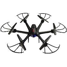 Drones Con Camara MJX Actualizado APP Wifi FPV 2.4GHz 4CH 6 Axis Gyro RC Quadcopter With HD Camera Modo sin Cabeza, Flip 3D, Trayectoria de vuelo ajustable (negro)