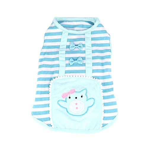 Naroote Haustier-Weste, Hundekleidung Cute Pig Striped Dog Vest Fashion Dog - Pig Dog Kostüm