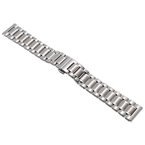14mm-Unisex-Edelstahl-Uhrenarmband-Uhrband-Uhrenarmbaender-Watch-Strap-Watch-Band-Stahlfarbe