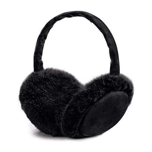 synmixx Ohrenwärmer Winter Ohrenschützer Faltbare Verstellbar Waschbar Plüsch Ohrenschützer warme Kälteschutz Kalte für Damen, Herren und Kinder