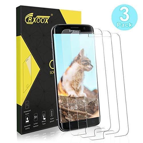 CRXOOX Panzerglas Displayschutzfolie für Samsung Galaxy S7,[3 Stück] 2.5D Kanten, 9H Härte Panzerglas Schutzfolie, Anti-Kratzen, Anti-Fingerabdruck, Anti-Öl, Anti-Bläschenm, 0.33mm