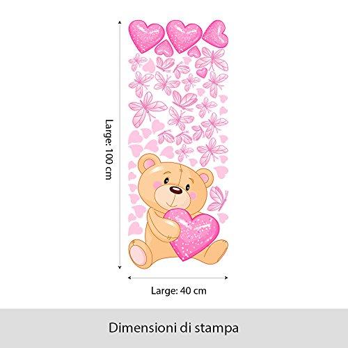 Wall Art, R00011 Orsetto Magico, Adesivo Murale per Bambini, 40X100 Cm - 2