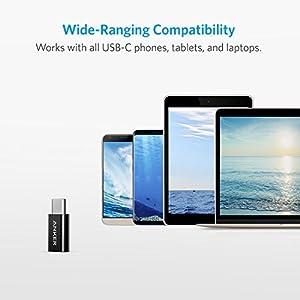 Anker-USB-C-Adapter-auf-Micro-USB-4-in-1-Pack-56K-Widerstand-fr-Samsung-Galaxy-S9-S8-Note-8-A5-A3-2017LG-g5-g6Sony-Xperia-XZHuawei-P9P10MacBook-Pro-2016-und-weitere-Schwarz