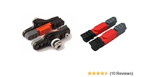 Bike Brake Pads Clarks CPS240 55mm Road Calliper Shoe /& Spare Pad White