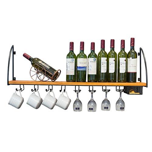 Wandmontage Weinregale | Glashalterung | Korkladen rot, weiß, champagner | Lagerregal | Weinregal zum Aufhängen aus Metall | Weinflaschenhalter | Dekorative Regalaufbewahrung -