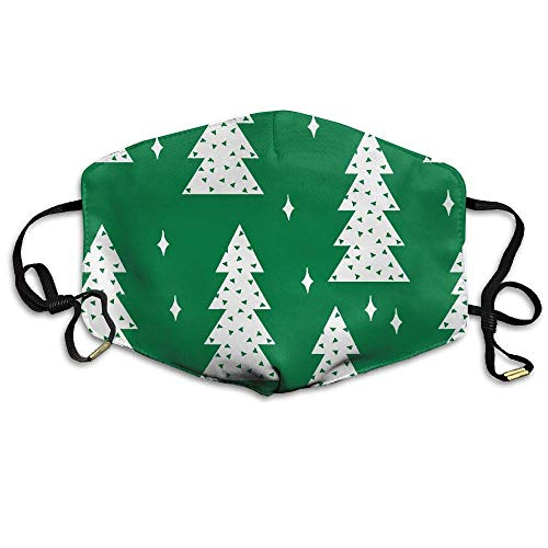 Daawqee Staubschutzmasken, Unisex Christmas Trees Wallpaper Anti Dust Lip Mask Mouth Face Masks