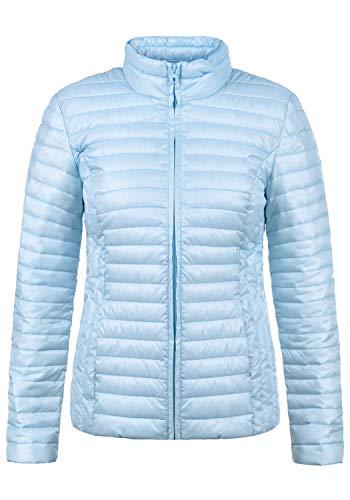 JACQUELINE de YONG Britta Damen Übergangsjacke Steppjacke leichte Jacke gefüttert mit Stehkragen, Größe:XL, Farbe:Cashmere Blue