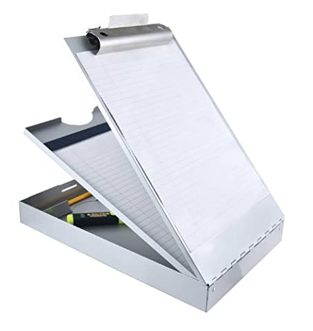 Saunders Recycled Aluminum Cruiser-Mate Storage Clipboard with Dual Tray Storage - Letter Size