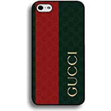 Gucci Phone Case Cover For iPhone 6/iPhone 6S(4.7inch) Red Green Stripe Gucci Black Back