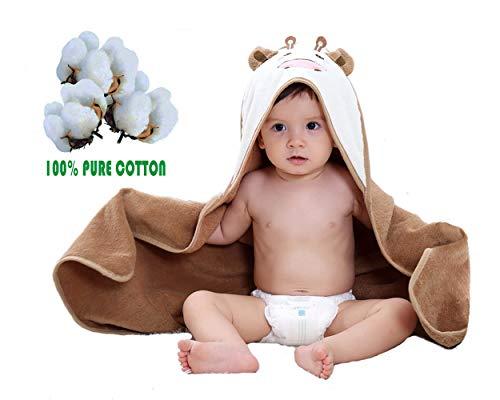 Leedemore-Cartoon Little Cow puro cotone mantello incappucciato tovagliolo di bagno, Bambino appena nato con cappuccio Swaddle, asciugamano per bambini (0-5 anni)