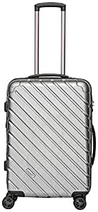 Packenger Premium suitcase, trolley, hard case, vertical size L in silver-metallic. approx. 63x40x29cm