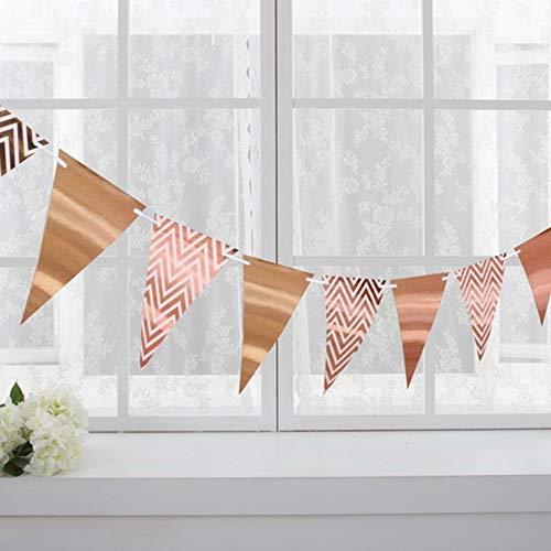 l Banner Dreieck Flags Bunting Birthday Party Wanddekorationen Metallic Gold ()