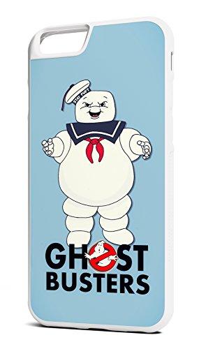 Customcases Ghostbusters Stay Puff Marshmallow Man 80's Klassischer Film Charakter Weiß Gummi-Telefon-Kasten für iPhone 7