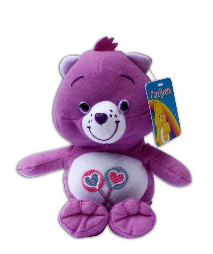 Teile-gern-Bärchi 16/23cm Teddybär Plüschtier Die Glücksbärchis Care Bears Lila Lutscher Bär (Bären-lutscher)