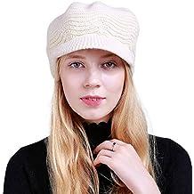 DORRISO Moda Basco Donna Berretto Primavera Autunno Inverno Caldo Cappelli  Francese Cappello Basco Berretto Viaggio Vacanza 26b66415cf69