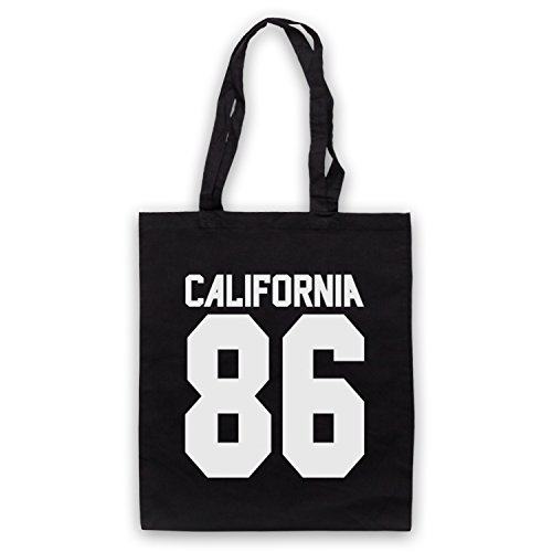 Inspiriert durch California 86 As Worn By Damon Albarn Inoffiziell Umhangetaschen Schwarz