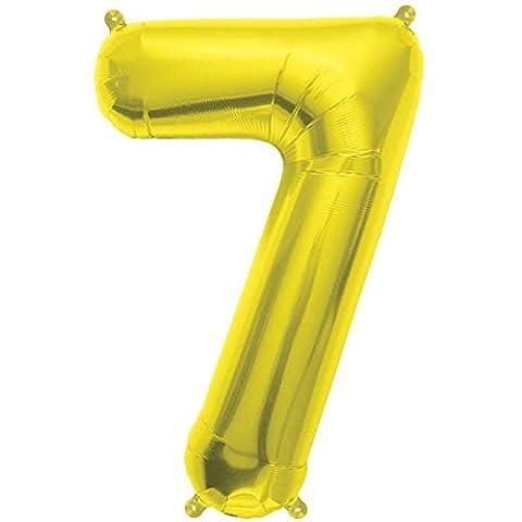 40cm Air Remplissez Nombre 7 or Ballon Foil (vendu non gonflé)