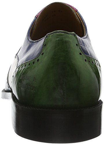 Melvin & Hamilton Jeff 14, Chaussures Lacées Homme Multicolore (Crust Turquoise Cappu Fuxia E-Blue E-Green Hrs)