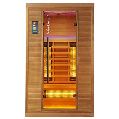 BP Infra 4 Health I-120 Infrarotkabine Sauna mit Zedernholz für 1-2 Personen