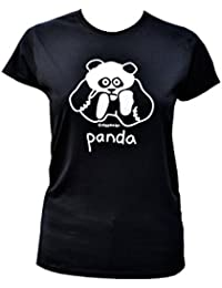 Red Dog Wear Womens Panda Black T.Shirt