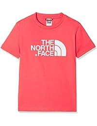 The North Face Y S/S Easy tee Camiseta, Niños, Rosa, L