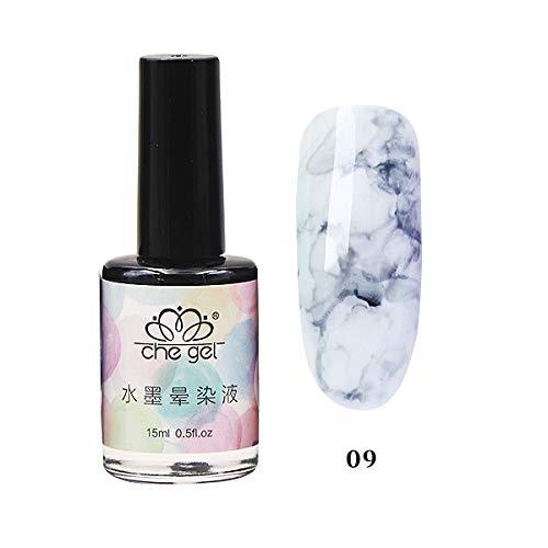 LanLan Photothérapie Vernis À Ongles Marbre Encre Nail Gel Smudge Lquid Gradient Manucure Nail Art 09
