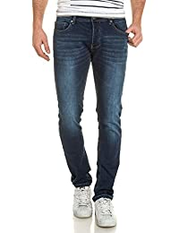 Deeluxe 74 - Jeans jogg homme bleu foncé délavé ajusté