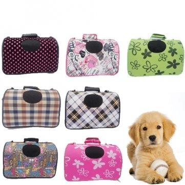 Di alta qualità, misura S, motivo cane e casetta per il trasporto di borse da viaggio, con motivo a scacchi,, colore: marrone