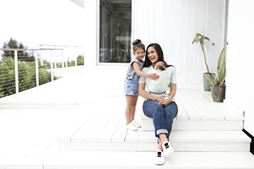 Ergobaby Baby-Tragetuch für Neugeborene bis 11 kg, Elastisches Babytragetuch Sage Atmungsaktiv aus 100% Viskose, Sling für Tragetuch Neulinge - 6