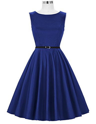 50s Retro Vintage Rockabilly Kleid Partykleider Cocktailkleider GD6086 CL6086-54#