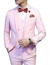 Cloudstyle Haut de costume trois-pièces veste +gilet +pantalon affaires décontraction mariage et animateur