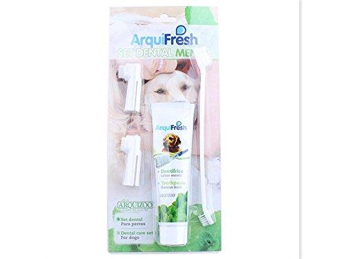 Duschen Haustier-Hundekatzen-enzymatischer Zahnpasta-Zahnpflegesatz mit Doppelzahnbürste für Mundhygiene für Badezimmer