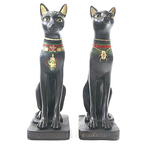 Par de egipcio Figura de gato estatua figura decorativa antiguo Egipto