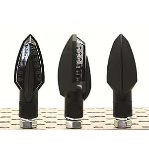 Clignotants noirs spear led homologués bihr - Bihr 322191