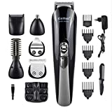 MXXTL Multifunctional 11 And 1 Hair Trimmers Home Professional Personal Care Complete Hairdresser Nose Hair Engraving Razor (Black)