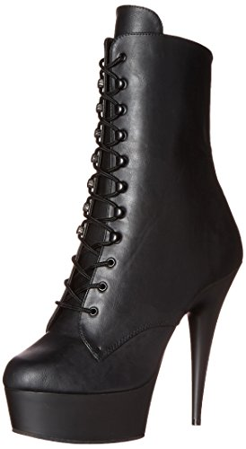 Pleaser Delight-1020, Damen Ungefüttert Classics Kurzschaft Stiefel & Stiefeletten, Schwarz (Schwarz (Blk Faux Leather/Blk Matte)), 38 EU