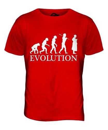 CandyMix Bhikkhu Buddhistischer Mönch Evolution Des Menschen Herren T Shirt Rot