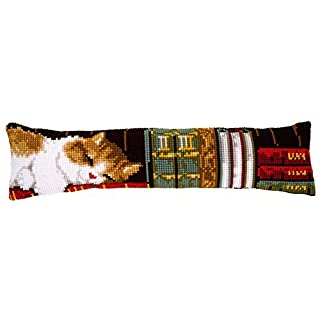 Vervaco Draft Excluder Cat Sleeping Cross Stitch, Multi-Colour