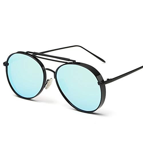 Sonnenbrillen. Retro Pilot Sonnenbrille Frauen Gespiegelt Steampunk Runder Kreis Schattierungen Vintage Outdoor Reisen Sommer Staub Uv400 Schwarz Blau