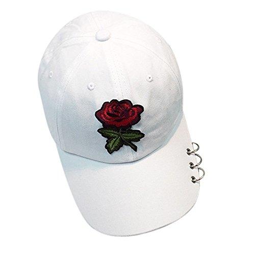 IMJONO Damen sommer baseball cap schnell trocknend sonnenhut kühlen hüte für frauen männer outdoor-sportarten laufen angeln radfahren golf caps vintage gewaschen (One Size,Weiß)