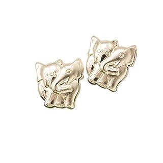 ASS 925 Silber Ohrschmuck Ohrringe Ohrstecker Elefanten teilmatt,Glücksbringer