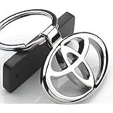 علاقة وسلسلة مفاتيح معدنية من الكروم انيقة ومتينة لسيارات تويوتا مناسبة كهدية عائلية للرجال والنساء