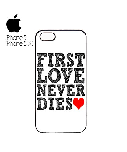 First Love Never Dies Red Heart Mobile Phone Case Cover iPhone 6 Plus + White Blanc