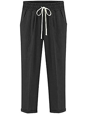 Mujer Pantalones Pantalon Verano Pantalon Anchos Talla Grande Tendencia Fino Cintura Alta Casuales Mujeres Color...