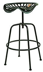 East2eden vintage retro metal farm garden home tractor seat bar stool furniture single black Home bar furniture amazon