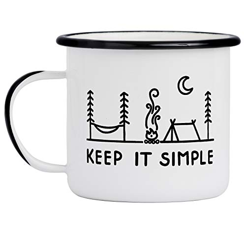 Mütter Haferflocken (Camp Noggin Keep It Simple Kaffeetasse aus Emaille, für Camping (450 ml), große Größe, ideal für Kaffee, Tee, Bier, Wein, Haferflocken oder Suppe)