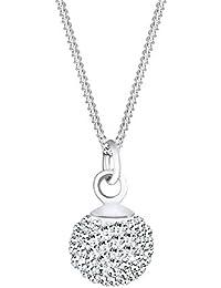 Elli Damen-Kette mit Anhänger 925 Silber Swarovski Kristal
