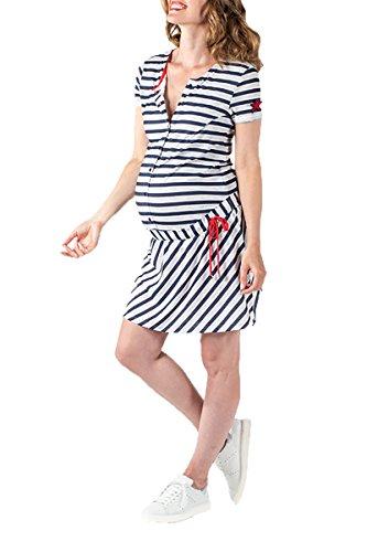 Love2Wait Stillkleid Schwangerschaftskleid Umstandskleid Jerseykleid - Mode für Schwangere Frauen -...
