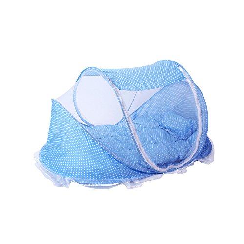 GKPLY Baby Reisebett, Baby Bett Tragbare Falten Kinderbett Moskitonetz Tragbare Babybetten Neugeborenen Faltbare Krippe (PINK),Blue